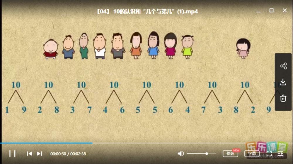 乐乐课堂-人教版小学数学全12册教学视频课程资源合集百度云下载
