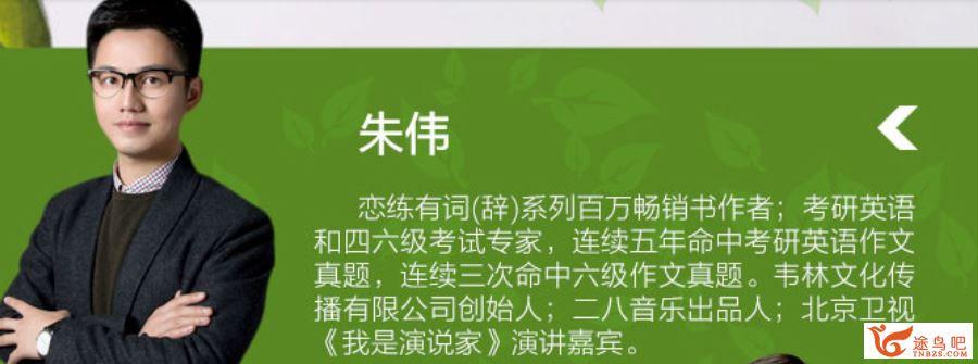 【朱伟】2021考研英语直播全程班视频课程资源百度云下载