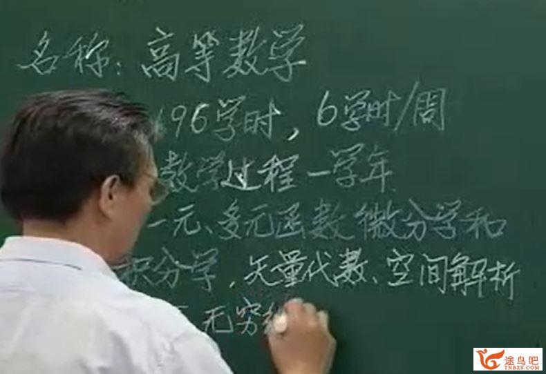 高等数学视频 189讲 天津大学 蔡高厅视频+PDF教材-百度云下载