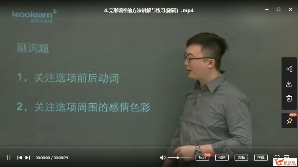 方侃 初中英语中考15天完型填空突破课程视频百度云下载