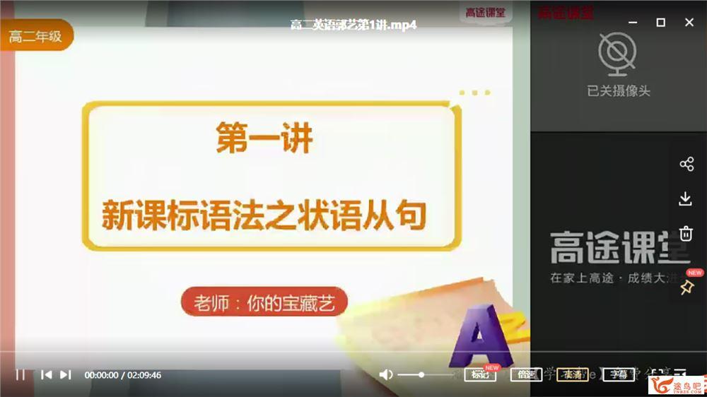郭艺 2021暑假 高二英语暑假尖端班(更新中)课程视频百度云下载