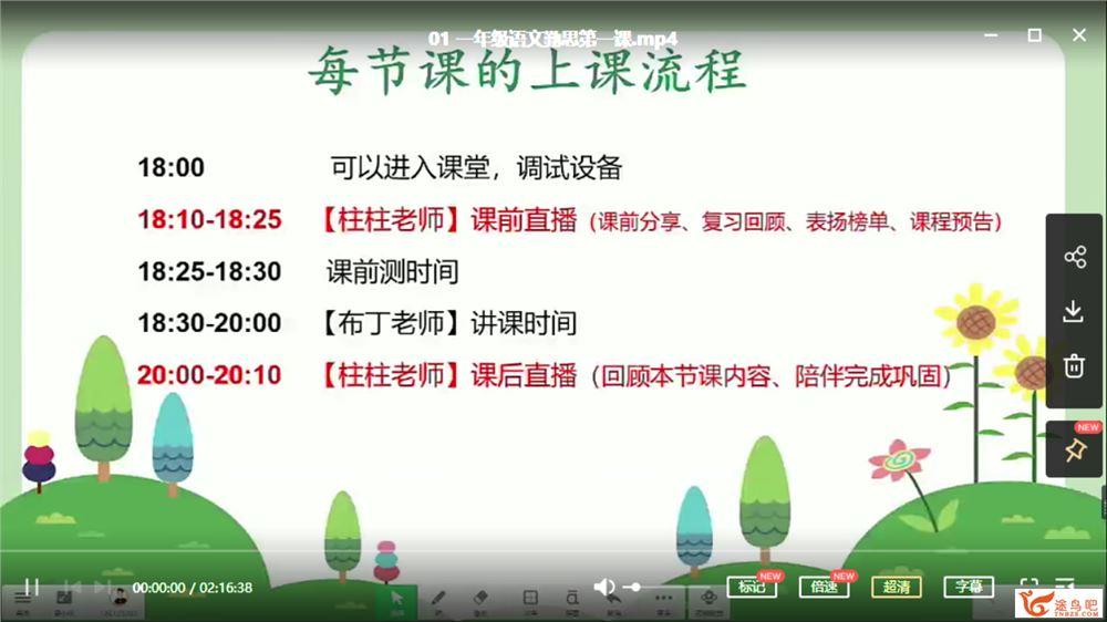 潘晓琳 2020 秋 一年级语文秋季培训班(勤思在线)课程视频百度云下载